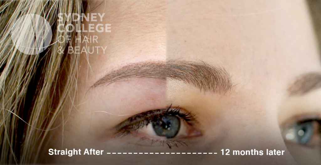 Microblading results after 12 months
